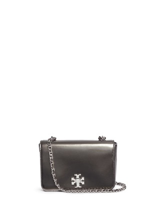 Main View - Click To Enlarge - Tory Burch - 'Mercer' adjustable metallic leather shoulder bag