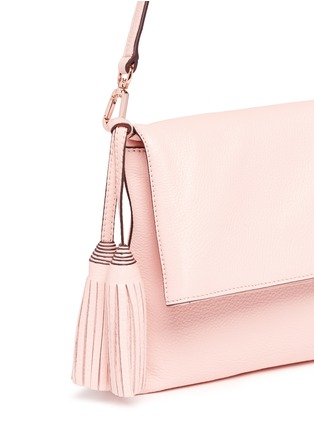 Detail View - Click To Enlarge - TORY BURCH - 'Thea' leather foldover messenger bag