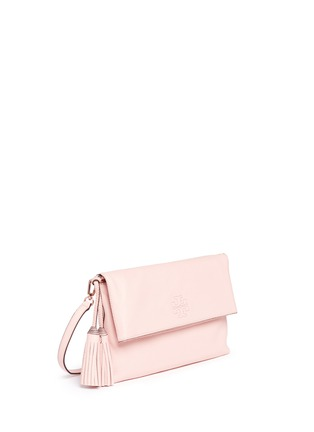 Front View - Click To Enlarge - TORY BURCH - 'Thea' leather foldover messenger bag