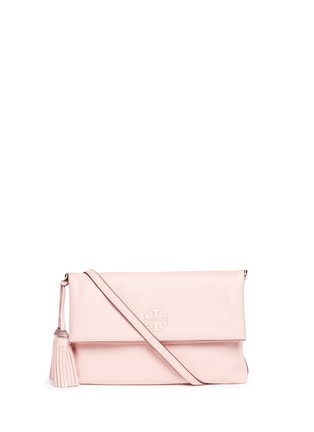 Main View - Click To Enlarge - TORY BURCH - 'Thea' leather foldover messenger bag