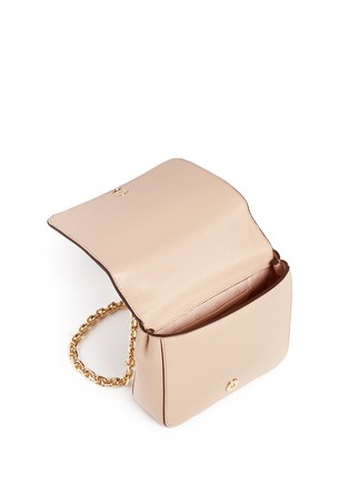 Detail View - Click To Enlarge - TORY BURCH - 'Zoey' floral perforated leather chain shoulder bag