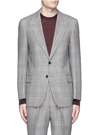 Main View - Click To Enlarge - Tomorrowland - Dormeuil Sportex Vintage® wool houndstooth blazer