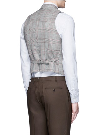Back View - Click To Enlarge - Tomorrowland - Dormeuil Sportex Vintage® wool houndstooth double breasted vest