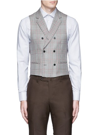 Main View - Click To Enlarge - Tomorrowland - Dormeuil Sportex Vintage® wool houndstooth double breasted vest