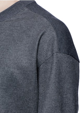 Detail View - Click To Enlarge - Tomorrowland - Ribbed shoulder wool felt sweater