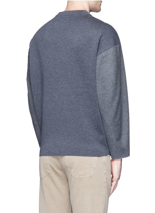Back View - Click To Enlarge - Tomorrowland - Ribbed shoulder wool felt sweater