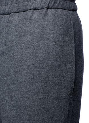 Detail View - Click To Enlarge - Tomorrowland - Drawstring wool felt pants