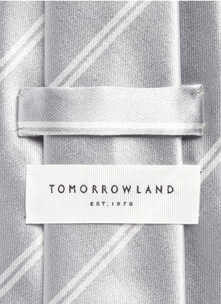 Detail View - Click To Enlarge - Tomorrowland - Stripe cotton-silk satin tie