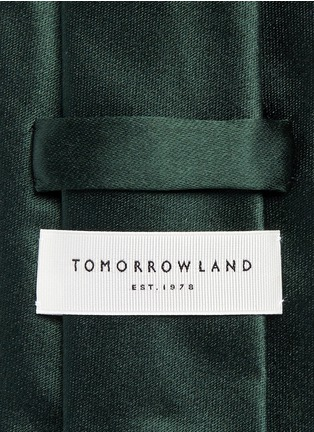 Detail View - Click To Enlarge - Tomorrowland - Cotton-silk satin tie