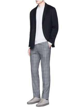 Figure View - Click To Enlarge - TOMORROWLAND - Felted cotton soft blazer