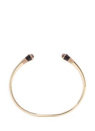 Main View - Click To Enlarge - Lama Hourani Jewelry  - 'Evolution of Rock' diamond topaz 18k yellow gold cuff