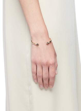 Figure View - Click To Enlarge - LAMA HOURANI JEWELRY  - 'Evolution of Rock' diamond topaz 18k yellow gold cuff