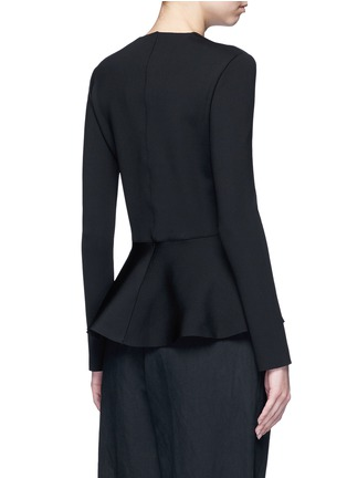 Back View - Click To Enlarge - The Row - 'Mel' scuba jersey peplum long sleeve top