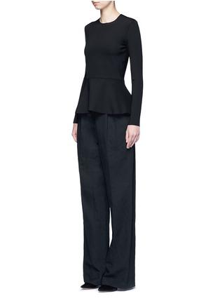 Figure View - Click To Enlarge - The Row - 'Mel' scuba jersey peplum long sleeve top