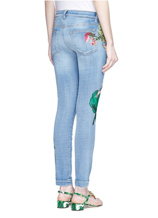 Back View - Click To Enlarge - Dolce & Gabbana - Sequin embroidery skinny jeans