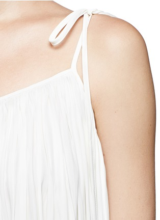 Detail View - Click To Enlarge - Lanvin - Gathered techno satin two-way dress