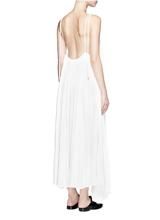 Back View - Click To Enlarge - Lanvin - Gathered techno satin two-way dress