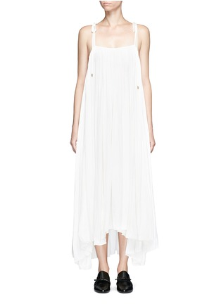 Main View - Click To Enlarge - Lanvin - Gathered techno satin two-way dress