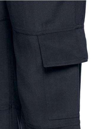Detail View - Click To Enlarge - THEORY - 'Hamtana' elastic waist silk habotai cargo pants