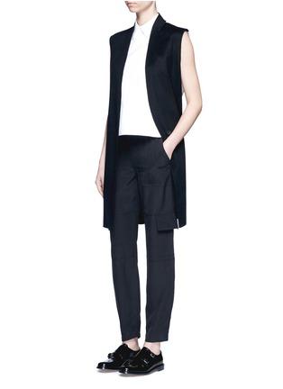 Figure View - Click To Enlarge - THEORY - 'Hamtana' elastic waist silk habotai cargo pants