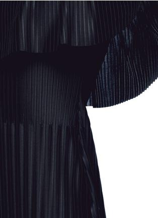 Detail View - Click To Enlarge - Givenchy - Off-shoulder plissé pleat dress
