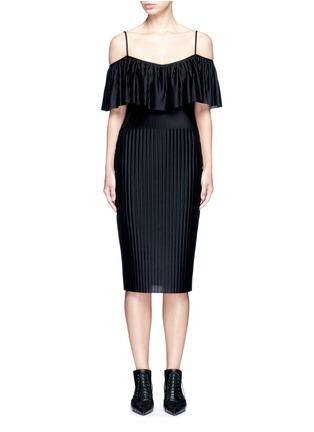 Main View - Click To Enlarge - Givenchy - Off-shoulder plissé pleat dress
