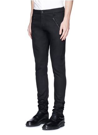 Front View - Click To Enlarge - Alexander McQueen - Leather pocket denim pants