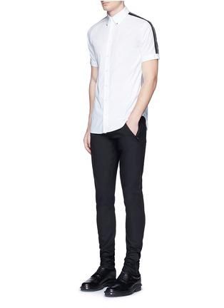 Figure View - Click To Enlarge - Alexander McQueen - Leather pocket denim pants