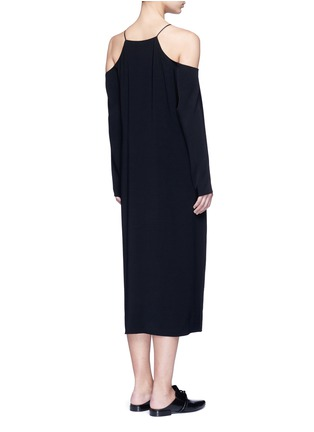 Back View - Click To Enlarge - THE ROW - 'Cady' cold shoulder midi dress