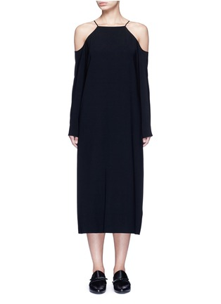 Main View - Click To Enlarge - The Row - 'Cady' cold shoulder midi dress