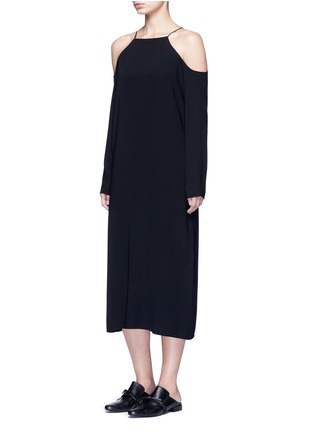 Figure View - Click To Enlarge - The Row - 'Cady' cold shoulder midi dress