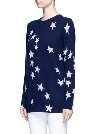 Front View - Click To Enlarge - Equipment - 'Rei' star intarsia cashmere sweater