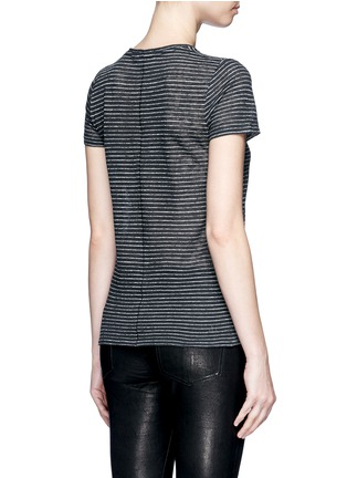 Back View - Click To Enlarge - rag & bone/JEAN - 'Summer Stripe' textured linen-cotton T-shirt
