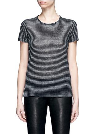 Main View - Click To Enlarge - rag & bone/JEAN - 'Summer Stripe' textured linen-cotton T-shirt