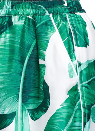 Detail View - Click To Enlarge - Dolce & Gabbana - Banana leaf print silk pyjama pants