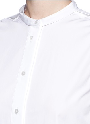 Detail View - Click To Enlarge - Ports 1961 - Detachable sleeve cotton poplin shirt