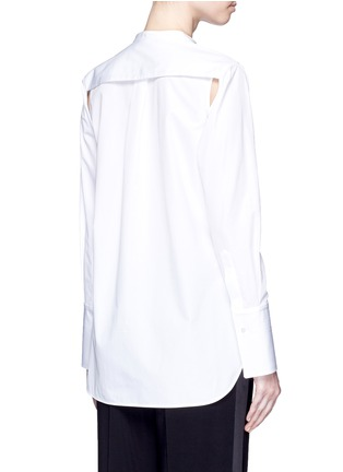 Back View - Click To Enlarge - Ports 1961 - Detachable sleeve cotton poplin shirt