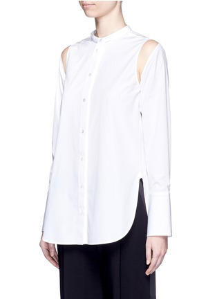 Front View - Click To Enlarge - Ports 1961 - Detachable sleeve cotton poplin shirt