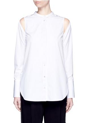 Main View - Click To Enlarge - Ports 1961 - Detachable sleeve cotton poplin shirt