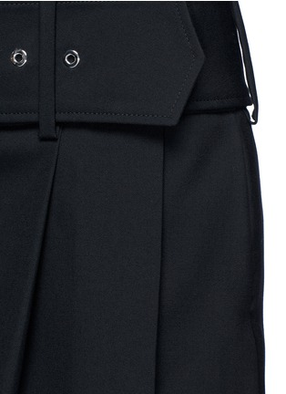 Detail View - Click To Enlarge - GIVENCHY - Belted apron front twill skirt