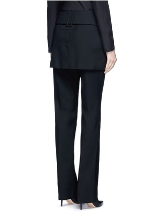 Back View - Click To Enlarge - Givenchy - Belted apron front twill skirt