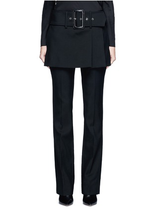 Main View - Click To Enlarge - GIVENCHY - Belted apron front twill skirt