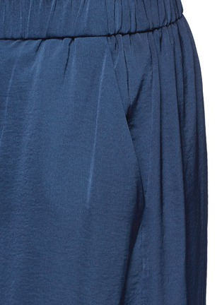 Detail View - Click To Enlarge - Vince - Washed satin wide leg culottes