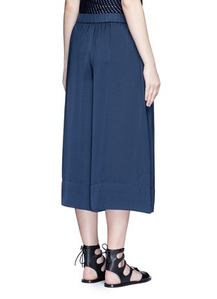 Back View - Click To Enlarge - Vince - Washed satin wide leg culottes