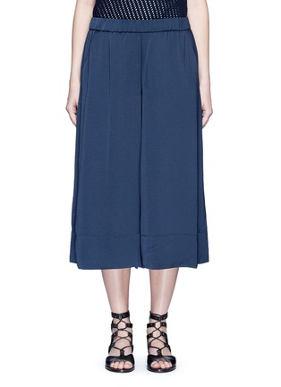Main View - Click To Enlarge - Vince - Washed satin wide leg culottes