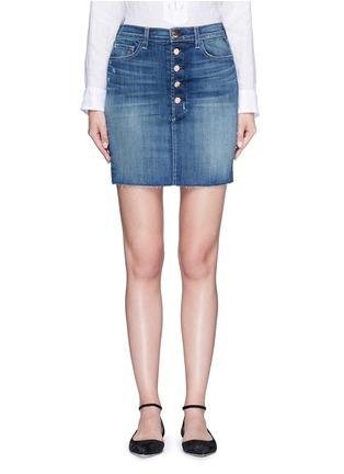 Main View - Click To Enlarge - J Brand - 'Rosalie' button denim skirt