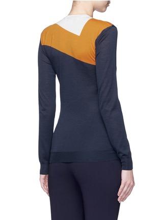 Back View - Click To Enlarge - Stella McCartney - Football stripe virgin wool-silk sweater