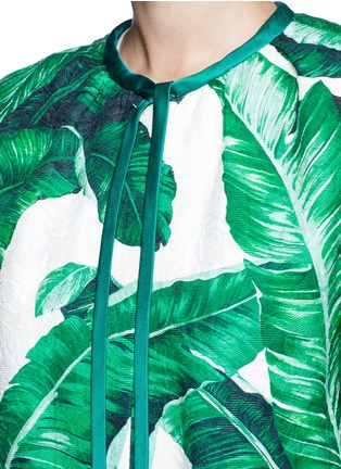 Detail View - Click To Enlarge - - - Banana leaf print brocade jacket