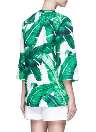 Back View - Click To Enlarge - - - Banana leaf print brocade jacket