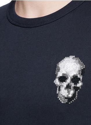 Detail View - Click To Enlarge - Alexander McQueen - Skull embroidery sweatshirt